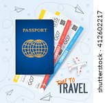 travel  business trip concept.... | Shutterstock .eps vector #412602217