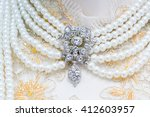 pearl necklace | Shutterstock . vector #412603957
