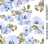 seamless pattern with orchid... | Shutterstock . vector #412608457