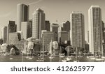 boston skyline from the sea. | Shutterstock . vector #412625977