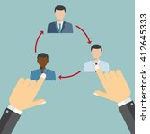job rotation concept  business...   Shutterstock .eps vector #412645333