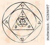 vector geometric alchemy symbol ... | Shutterstock .eps vector #412646497
