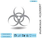 biohazard symbol vector sign... | Shutterstock .eps vector #412650097