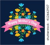 cute mother's day background | Shutterstock .eps vector #412662937