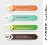 vector steps  progress banners... | Shutterstock .eps vector #412665637