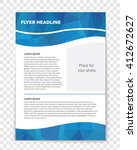 abstract vector layout... | Shutterstock .eps vector #412672627