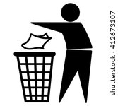 tidy man symbol   do not litter ... | Shutterstock .eps vector #412673107