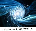 atom within series. interplay... | Shutterstock . vector #412673113