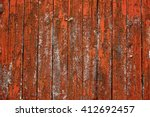 Orange Barn Wall With Textured...