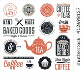 vintage cafe and bakery designs ... | Shutterstock .eps vector #412698127
