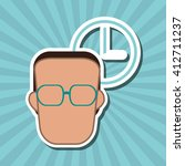 icon of business people  vector ... | Shutterstock .eps vector #412711237