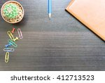 flower book and colorful... | Shutterstock . vector #412713523