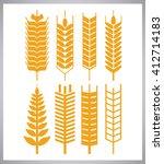 wheat ears design  farm and... | Shutterstock .eps vector #412714183