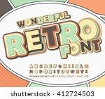 wonderful retro high detail... | Shutterstock .eps vector #412724503