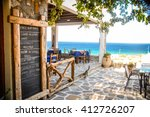 a taverna in ios  greece with... | Shutterstock . vector #412726207