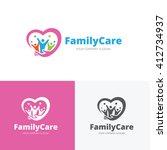 family care logo people logo... | Shutterstock .eps vector #412734937