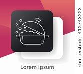pot line icon | Shutterstock .eps vector #412743223