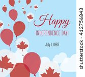 canada independence day... | Shutterstock .eps vector #412756843