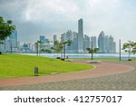 oceanfront walkway in panama...