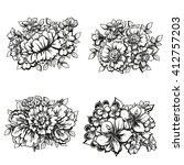 flower set | Shutterstock .eps vector #412757203