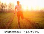 running stretching   runner... | Shutterstock . vector #412759447
