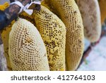 Close Up Of Honey Nest  With...
