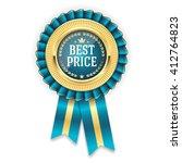 gold best price badge  rosette... | Shutterstock .eps vector #412764823