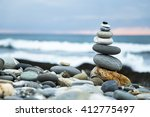Zen Stones On Beach
