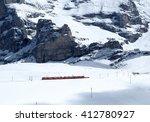 swiss mountain train crossed... | Shutterstock . vector #412780927