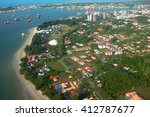 aerial view of the labuan... | Shutterstock . vector #412787677