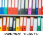 blurry colorful office folder... | Shutterstock . vector #412809547
