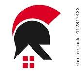 Helmet And Home Symbol. Logo...