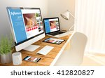 digital generated devices over...   Shutterstock . vector #412820827