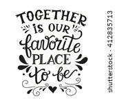 hand lettering typography... | Shutterstock . vector #412835713