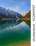 Lake Plansee With Mountains...