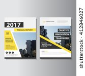 yellow black vector annual... | Shutterstock .eps vector #412846027