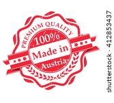 made in austria grunge label.... | Shutterstock .eps vector #412853437