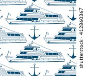 vector marine seamless pattern... | Shutterstock .eps vector #412860367