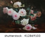 The Bunch Of Roses Oil Painting