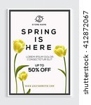 spring sale flyer  sale banner  ... | Shutterstock .eps vector #412872067