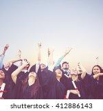 graduation student commencement ... | Shutterstock . vector #412886143