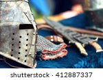 Medieval Knight Helmets With...
