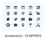 seo icons vector. silhouette. | Shutterstock .eps vector #412899853