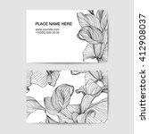 visit card template with calla... | Shutterstock .eps vector #412908037