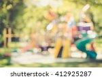 blur playground in park... | Shutterstock . vector #412925287