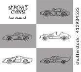 vector set of sport  cars.hand... | Shutterstock .eps vector #412934533