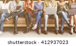 diversity people connection... | Shutterstock . vector #412937023
