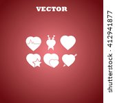 hearts icons    Shutterstock .eps vector #412941877