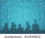 digital disruption concept... | Shutterstock . vector #412944823