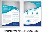 vector brochure flyer design... | Shutterstock .eps vector #412952683